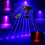 Sumger Mini Remote 9 Patterns RB Led Stage Laser Lighting Sound Active Equipment Effect Disco DJ Light Home Party Lights
