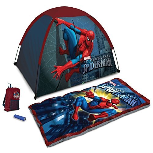 Marvel Ultimate Spider-man 4-piece Camp Kit - Tent, Sleep...