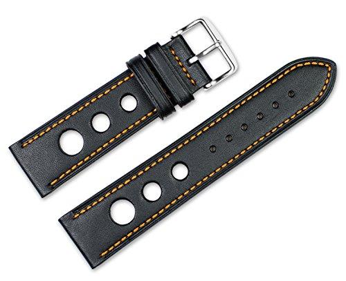 20mm-replacement-leather-watch-band-leather-grand-prix-black-w-orange-stitching-watch-strap