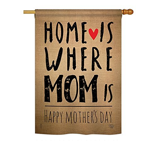 Or ment Collection H192066 Home Is Where Mom Is Summer Mother's Day Decorative Vertical House Flag, 28'' X 40'', Multi-Color
