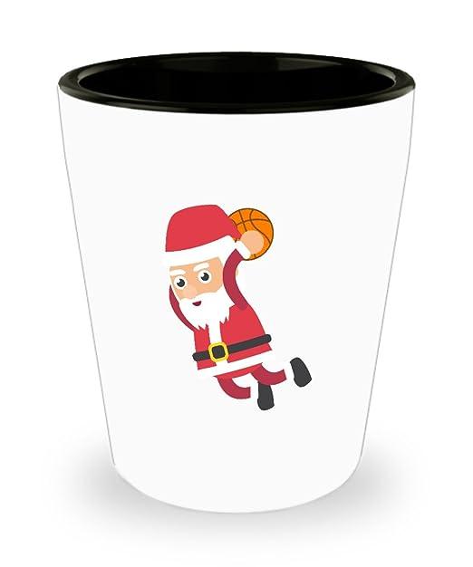 Papá Noel Navidad de baloncesto - Vaso de chupito 1,5 onzas de ...