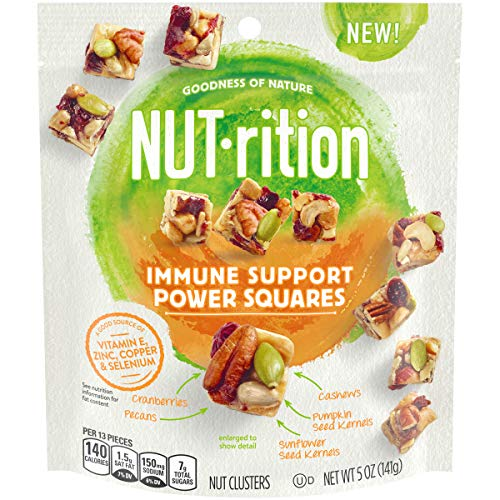 Health Nut - NUTrition Immune Support Power Squares Nut Clusters, 5 oz