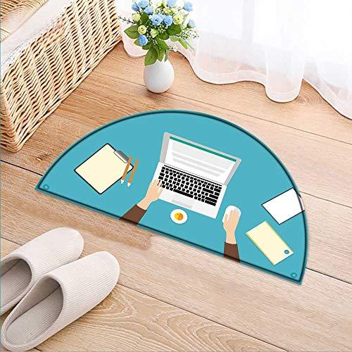 Grey Advantage Corner Desk - Carpet Floor mat Bath mat Door mat Work Supplies on The Desk Water-Absorbing Floor mat Anti-Slip mat W39 x H28 INCH