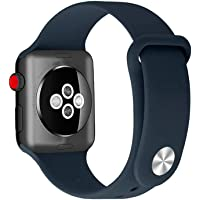 Apple Watch Correa-Compatible Apple WATCH1/2/3/4 Deportes Impermeables Pulsera de Silicona 42 mm/38mm/40mm/44mm
