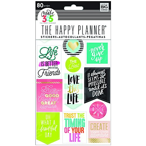 me & my BIG ideas PPS-61 Life Quotes Sticker Pack -