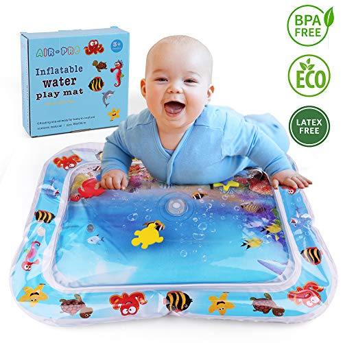 LotFancy Tummy Time Water Mat, Infant Toddlers Inflatable Water Play Mat, Baby Toys for Newborn 3 6 9 12 Month, Fun Activity Play Center for Baby Girls Simulation & Growth