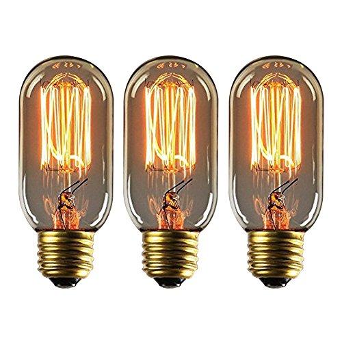 Buy G80 Led Filament E27 40w Bulb Online: Onepre Pack Of 3 Retro Filament Light Bulb 40W E27 Screw