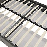 DHP Rose Storage Upholstered Bed, Grey Velvet, Full