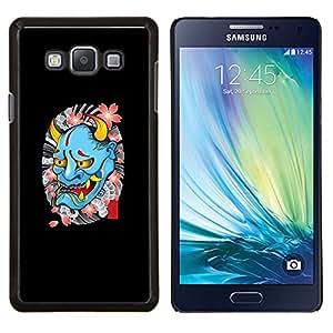 YiPhone /// Prima de resorte delgada de la cubierta del caso de Shell Armor - Diablo primavera tatuaje del motorista de la roca Rollo - Samsung Galaxy A7 A7000