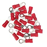 SODIAL(R) 20pcs Ring Ground Insulated Wire Connector Electrical Crimp Terminal 18-22AWG M4