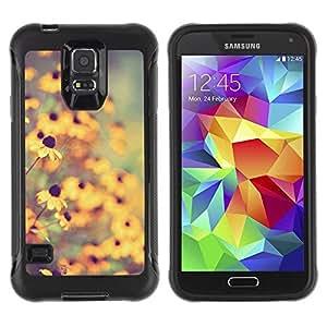 LASTONE PHONE CASE / Suave Silicona Caso Carcasa de Caucho Funda para Samsung Galaxy S5 SM-G900 / sun summer field nature yellow blur
