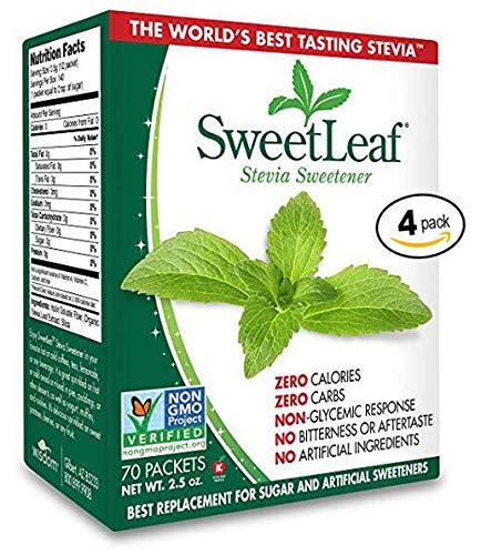 SweetLeaf Natural Stevia Sweetener, 70 Count,4-Pack
