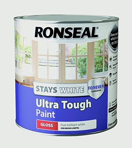 Ronseal RSLSWUTGP25L Stays ULT/Tough Gloss Paint, White, 2.5 Litre