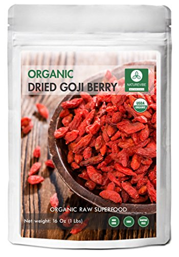 Naturevibe Botanicals Organic Goji Berries Dried (1lbs) | Boost Energy Level