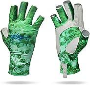 Kayak Fishing Gloves for Men Women Kids SPF UPF 50+ UV Sun Protection Fingerless Fly Fishing, Rowing, Kayaking