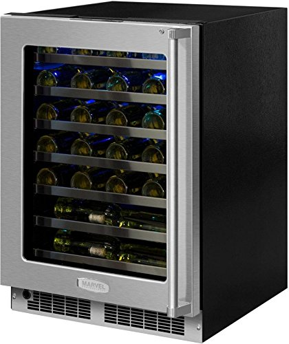 Marvel MP24WSG5LS Professional Series 24 Inch Built-In Single Zone Wine Cooler with 48 Bottles Bottle Capacity in Stainless Steel