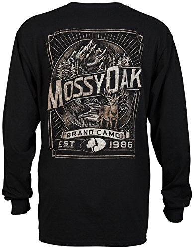 Mossy Oak Camo Long Sleeve Hunting T-Shirt (Large, Mossy Oak Brand Camo)