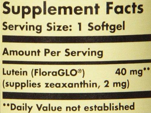 Solgar Lutein 40 mg, 30 Softgels by Solgar (Image #1)