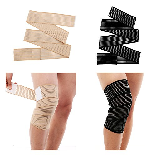 Therapia Plus Knee Compression Sleeve Reduce Strain & Swelling - Knee Braces - 2 Pairs Knee Support Straps Sleeves Knee Brace