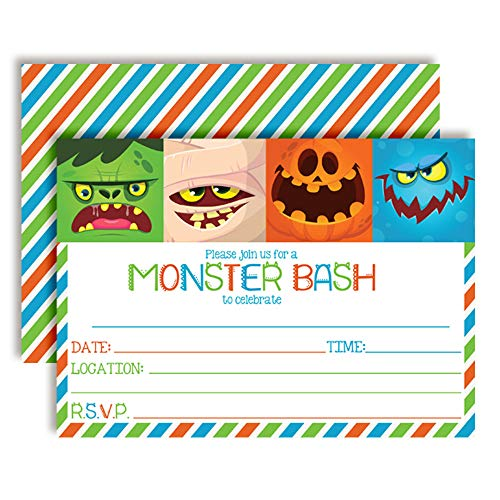 Scaryhalloween Costumes - Monster Bash Halloween Party Invitations, 20