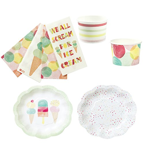 Talking Tables We Heart Ice Cream Party Bundle For Birthdays