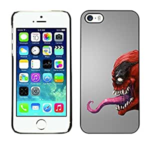 GagaDesign Phone Accessories: Hard Case Cover for Apple iPhone 5 5S - Red Venom Monster