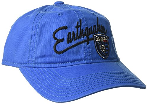 adidas MLS San Jose Earthquakes Women's Adjustable Slouch Hat with Script Logo, One Size, Blue