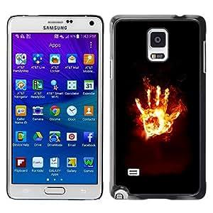 TECHCASE**Cubierta de la caja de protección la piel dura para el ** Samsung Galaxy Note 4 SM-N910 ** Flaming Hand From Hell