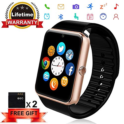 Bluetooth Smart Watch - ANCwear Smartwatch for Android Phones with SIM Card Slot Camera, Fitness Tracker Watch for Sleep Monitor, Step Counter Watch for Kids Women Men Compatible Android IOS Phones