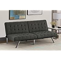 DHP Emily Futon Couch Bed, Modern Sofa Design Includes...