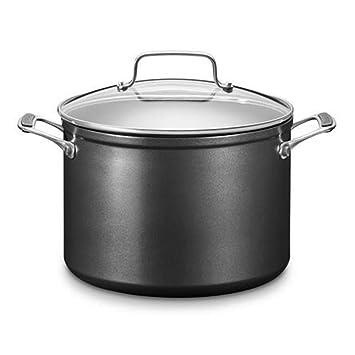 Kitchenaid kc2h180sckd Olla, Aluminio, 18 x 18 x 8 cm, Negro/Plata: Amazon.es: Hogar