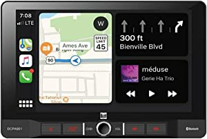 Dual Electronics DCPA901 9-Inch Single-DIN in-Dash Digital Media Receiver with Bluetooth, Android Auto and Wired Apple CarPlay