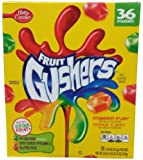 Betty Crocker Fruit Gushers Snack Pouch,0.9 Oz pouches, Variety pack, 36 Count