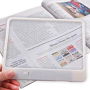 Amazon.com: Lupa de lectura de página completa, tamaño ...