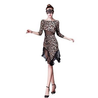 a2a57d8afe09 YC WELL Latin Dance Dress Tassel Women Salsa Rumba Cha Cha Samba Tango Dance  Clothes at Amazon Women's Clothing store: