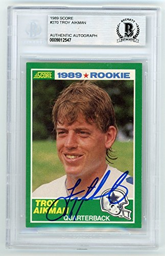 Troy Aikman 1989 Score Football Autograph Auto Rookie Card #270 - ()