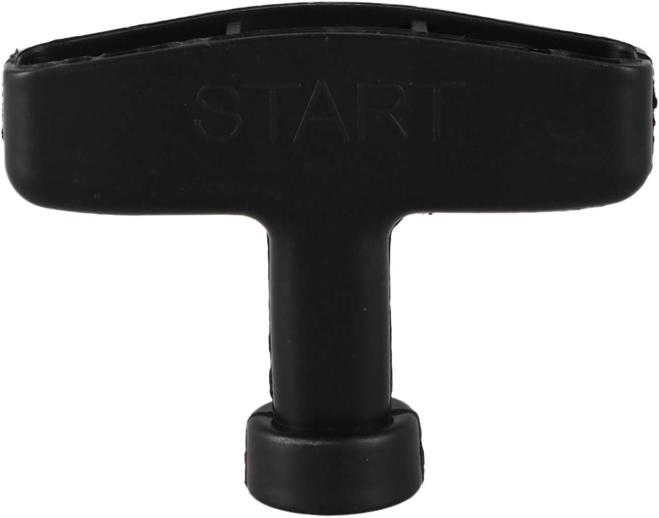 SODIAL(R) Empunadura Tirador de arranque del retroceso reemplazo negro para motor