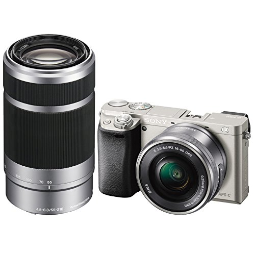Sony Alpha a6000 Camera with 55-210mm and 16-50mm Power Zoom Lenses - Includes Camera with 16-50mm Power Zoom Lens and 55-210mm Zoom Lens (Black)