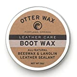 Otter Wax Boot Wax | 5oz | All-Natural Leather Waterproofer | Made in USA