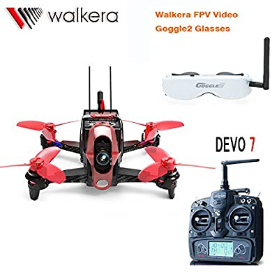 Walkera Rodeo 110 110mm DEVO 7 TX RC Racing Drone Quadcopter RTF With 5.8G FPV Head Tracker Goggle2 / 600TVL Camera /Battery /Charger by Walkera
