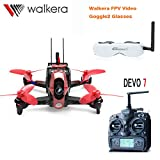 Walkera Rodeo 110 110mm DEVO 7 TX RC Racing Drone Quadcopter RTF With 5.8G FPV Head Tracker Goggle2 / 600TVL Camera /Battery /Charger