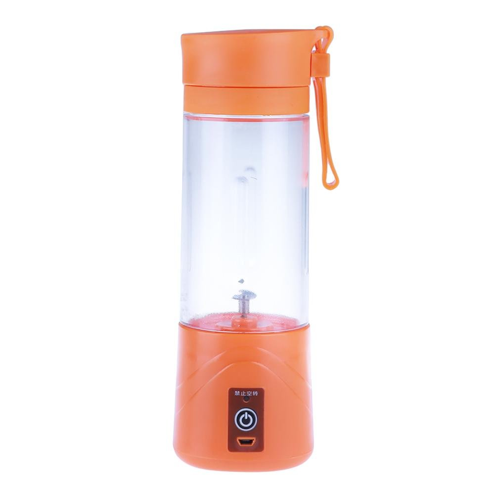 Whitelotous Mini USB Portable Electric Fruit Juicer Smoothie Maker Blender Machine Sports Bottle(Orange)