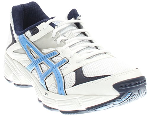 ASICS Women's Gel 190 TR Training Shoe, White/Periwinkle/Midnight Navy, 7.5 M US