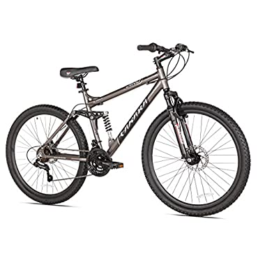 Takara Jiro Dual-Suspension 27.5 Tire Mountain Bike, Gray (62804)
