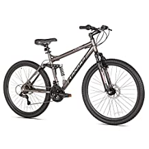 Takara Jiro Dual-Suspension Disc Brake Mountain Bike, 19-Inch/27.5-Inch, Grey