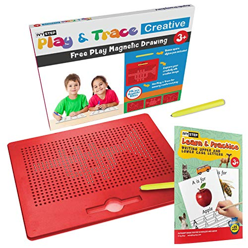 Ivy Step Magnetic Tablet and Stylus for Kids with Two Stylus Pens to Encourage Free Play & Learning