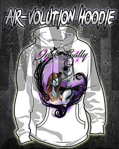 Personalized Airbrush Nightmare Before Christmas Jack And Sally Hoodie
