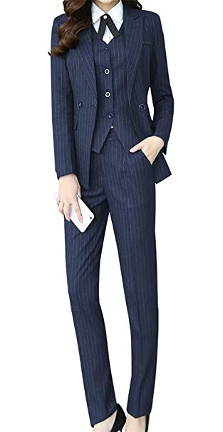 hot-selling professional 2018 sneakers new style & luxury Amazon.com: LISUEYNE Women's Three Pieces Office Lady Stripe ...