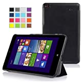 Mulbess - LENOVO ThinkPad 8 Windows 8.1 Slim Smart Case Cover - Magnetic Magnet Leather Case Cover Sleeve with Stand for Lenovo ThinkPad 8 Color Black
