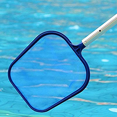 Blueseao Professional Leaf Rake Mesh Frame Net Skimmer Cleaner Swimming Pool Spa Tool New for Faster Swimming Pool and Pond Cleaning